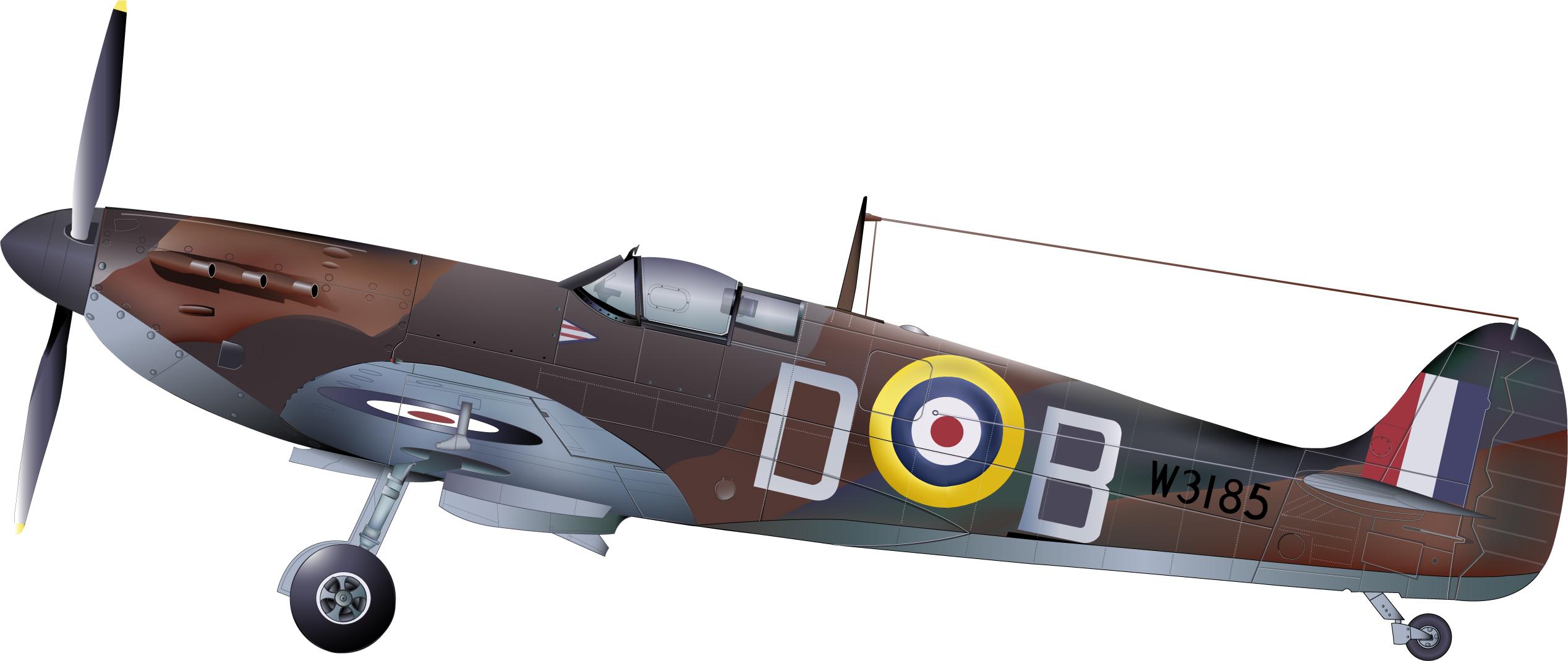 2536x1069 Supermarine Spitfire Mk. Va By Wakdor