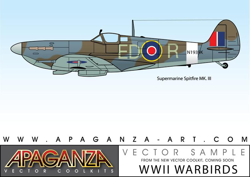800x566 Supermarine Spitfire Mkiii Vector