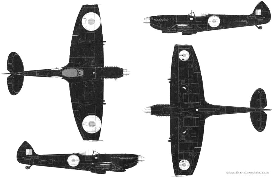901x591 Blueprints Gt Ww2 Airplanes Gt Supermarine Gt Supermarine Spitfire Mk