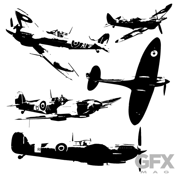 600x600 Free Vector Spitfire Silhouettes Free Download Vector Logos Art