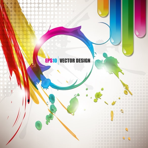 600x600 Color Paint Splashes Background 03 Vector Free Vector In