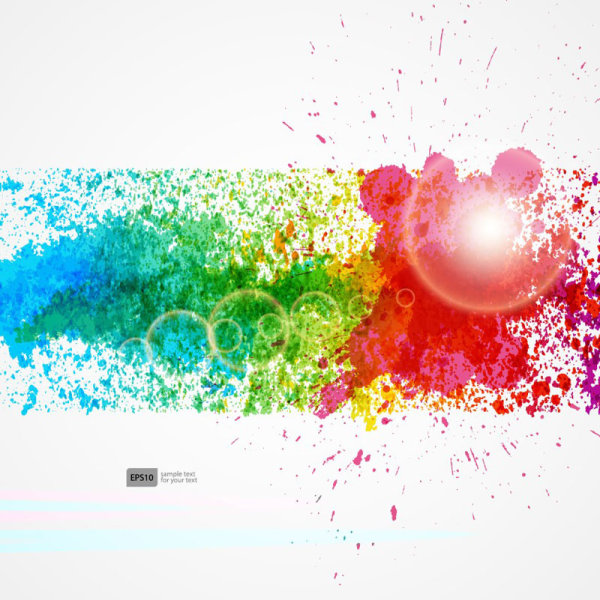 600x600 Colorful Object Splash Backgrounds Vector 01 Free Download
