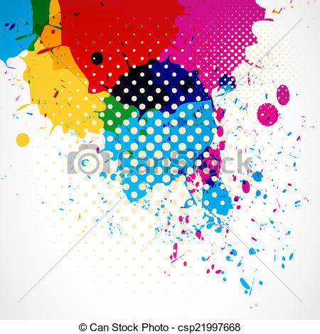 450x470 Colorful Grunge Splash Background. Colorful Grunge Splash Vector