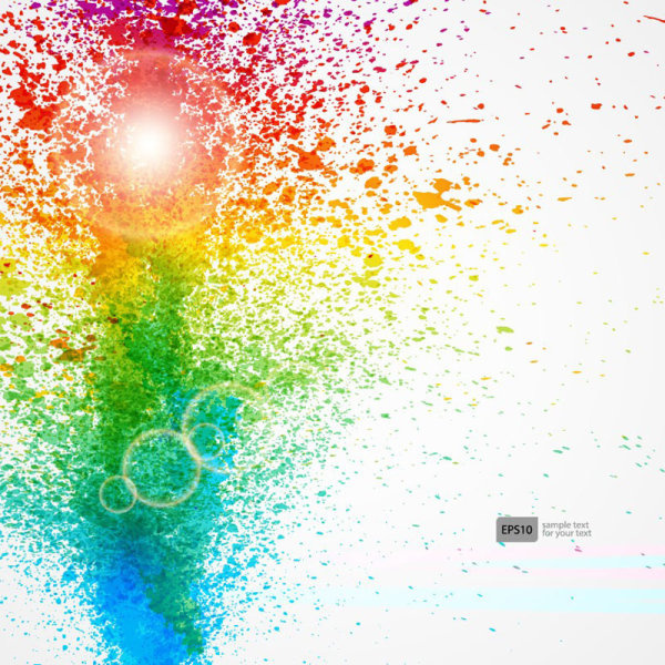 600x600 Colorful Object Splash Backgrounds Vector Free Vector In Adobe