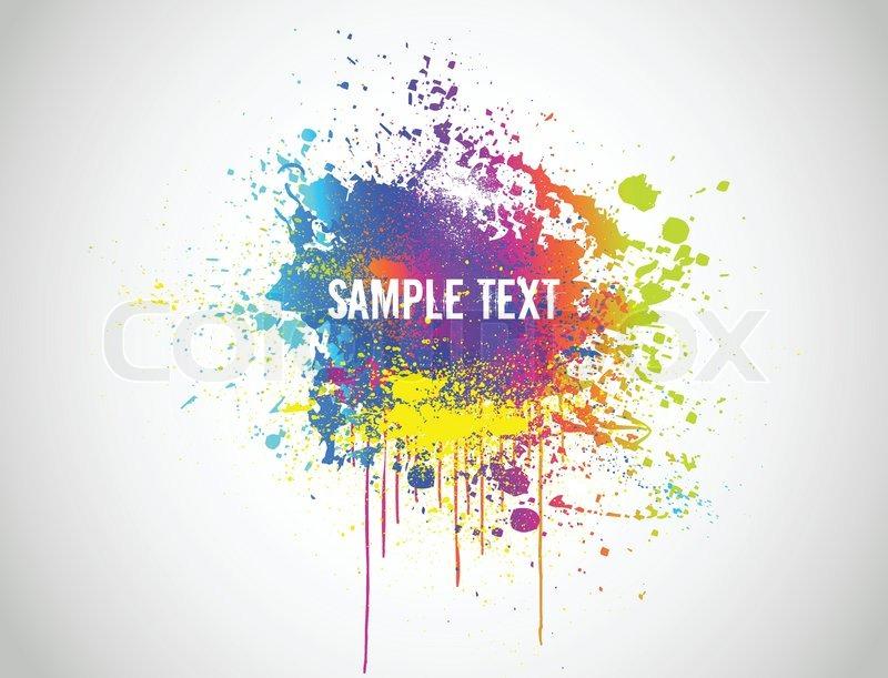 800x611 Abstract Paint Splash Background Vector Illustration Stock