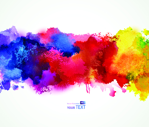 500x425 Splash Watercolor Stains Background Vector Material 04 Free Download