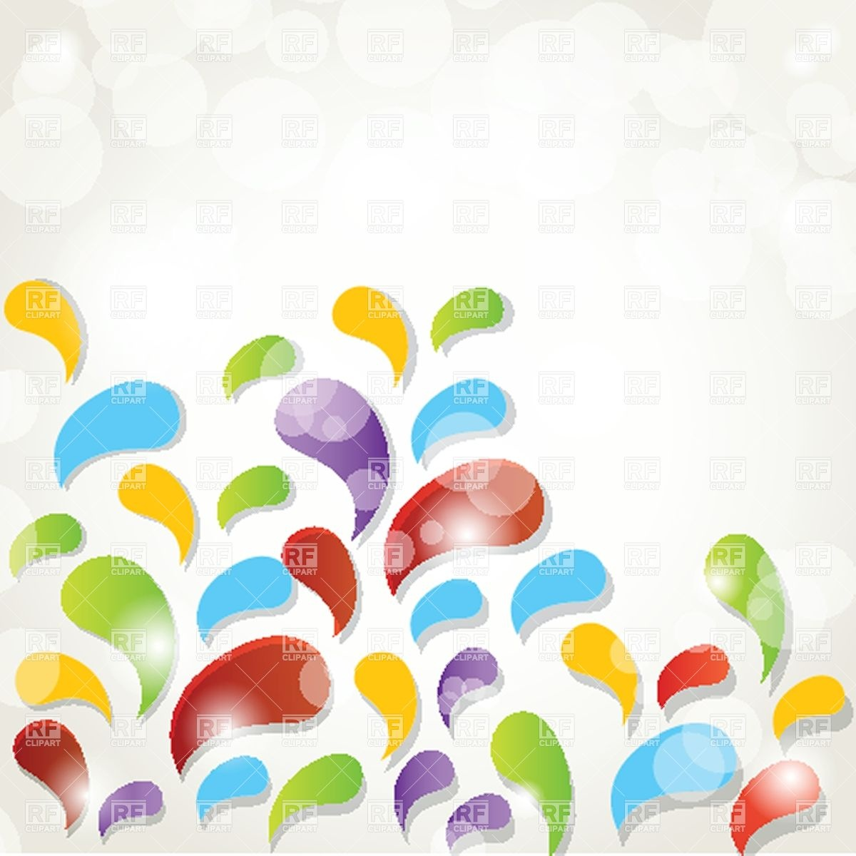 1200x1200 Abstract Multicolour Splash Background Vector Image Vector
