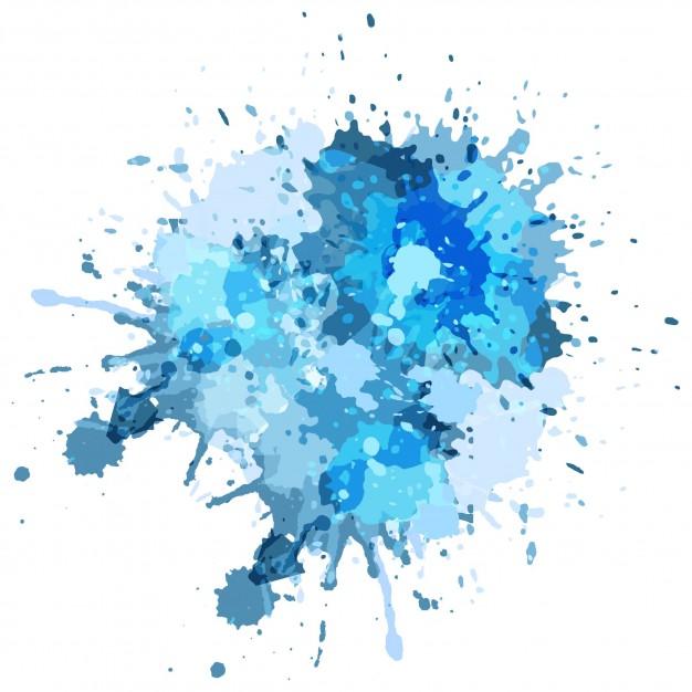 626x626 Blue Watercolor Splash Background Vector Free Download