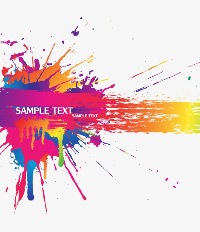 650x757 Color Splash Background Vector Material, Color, Splash, Background