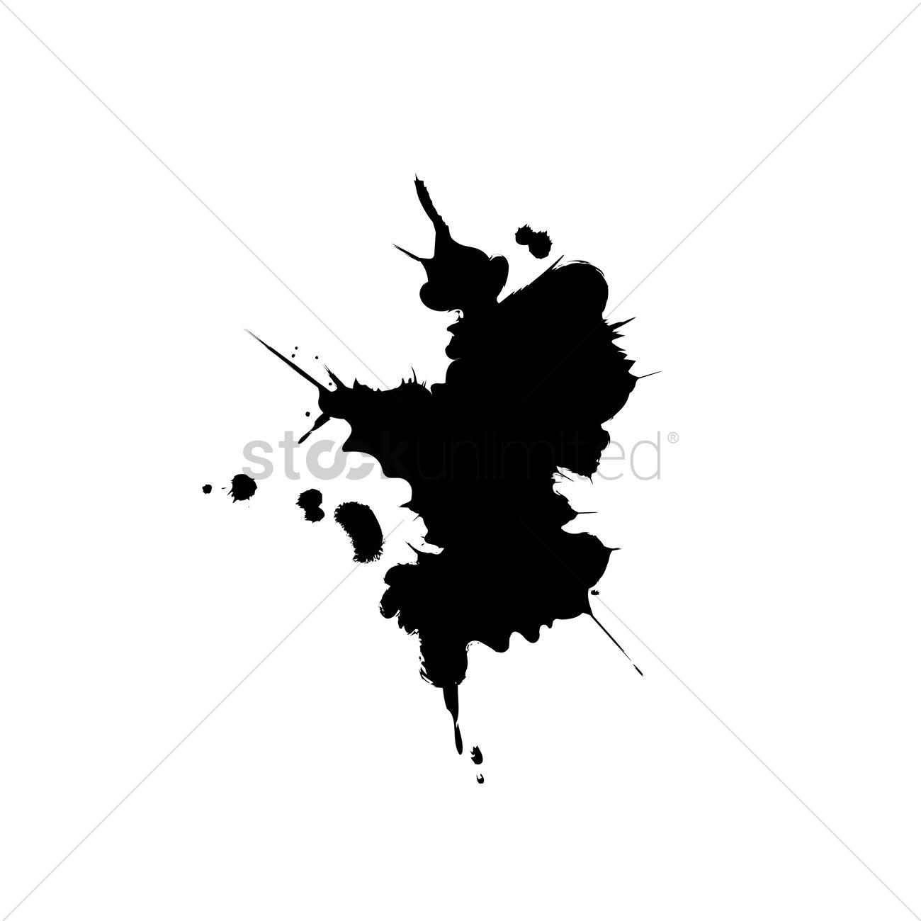1300x1300 Ink Splash Vector Image