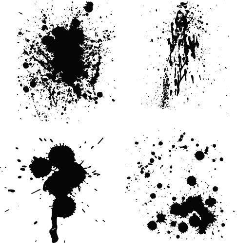 486x500 Ink Splash Vector Pack Public Domain Vectors