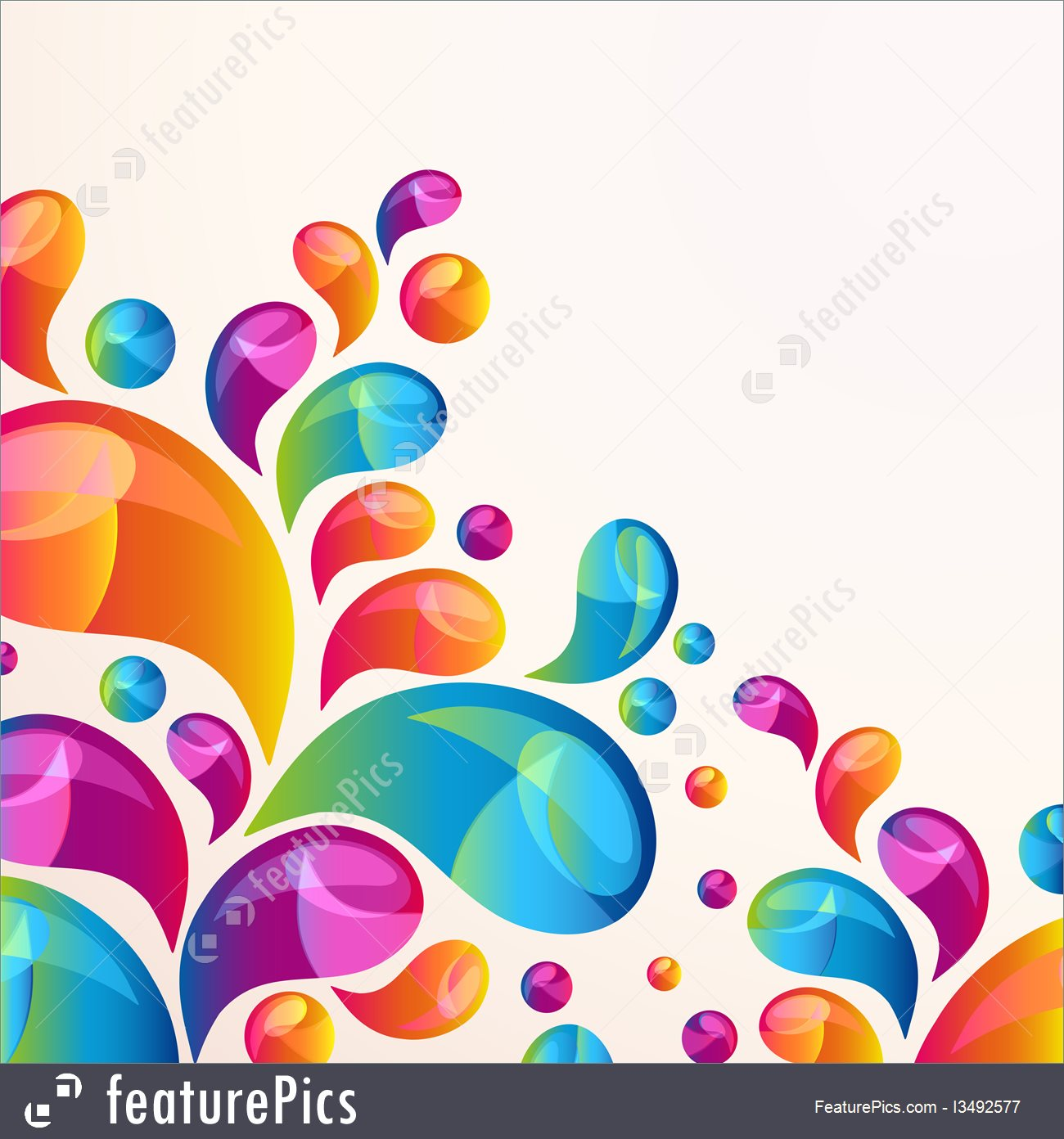 1300x1392 Splash Vector Background Cover Template.