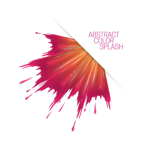 600x600 White Background And Abstract Color Splash Vector Material 13 Free