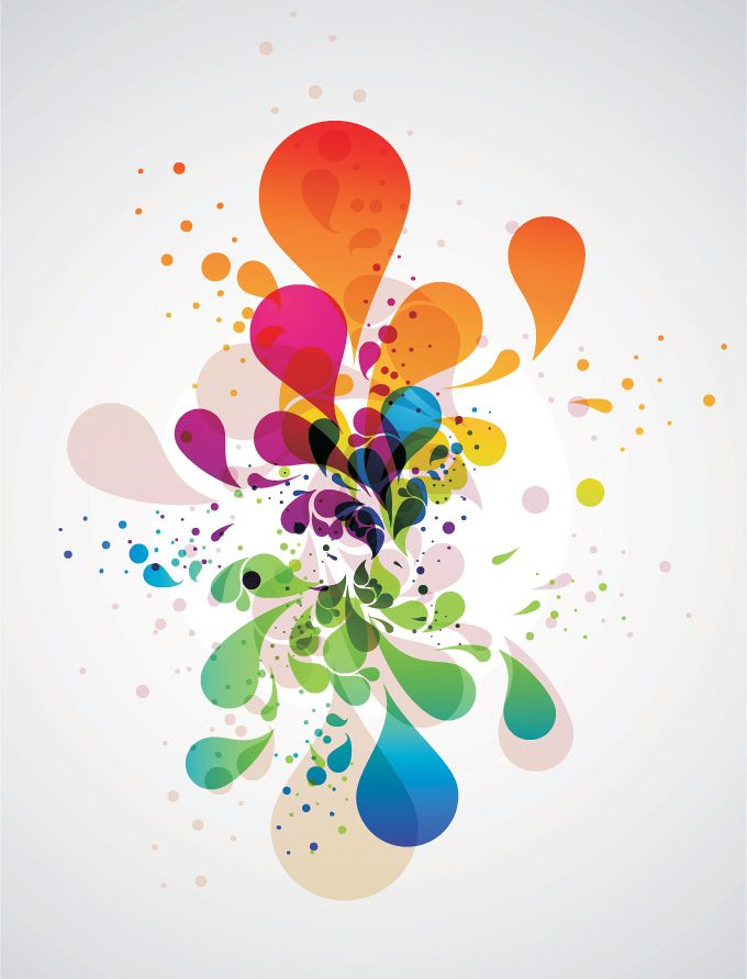 680x892 Colorful Abstract Splash Vector (Free) Free Vector Archive