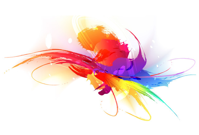 640x435 Free Vectors Grungy Colorful Splash And Scratches The Vector Art