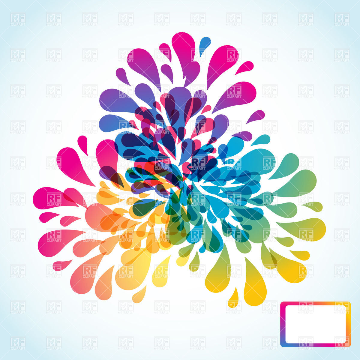 1200x1200 Abstract Colorful Splashing Drops Vector Image Vector Artwork Of