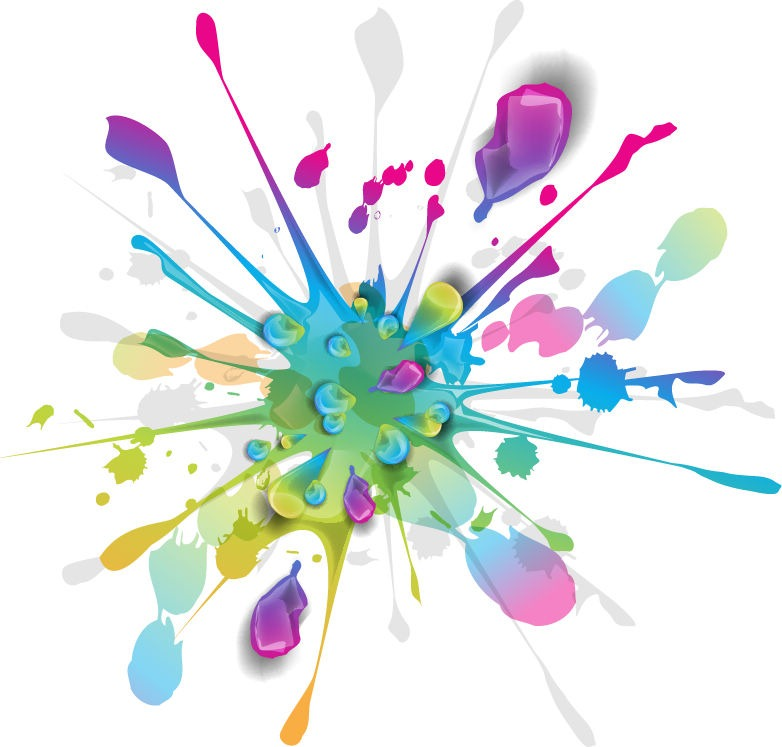 782x747 Splashes Of Colorful Ink Vector Art Free Vector Graphics All
