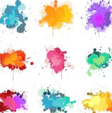 363x367 Color Ink Splash Vector Free Download Eps Files