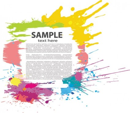 425x368 Colorful Ink Splashes Vector Free Vectors Ui Download