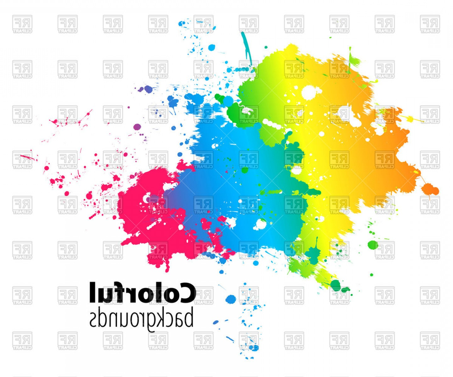 1440x1200 Abstract Colorful Watercolor Splash Vector Clipart Lazttweet