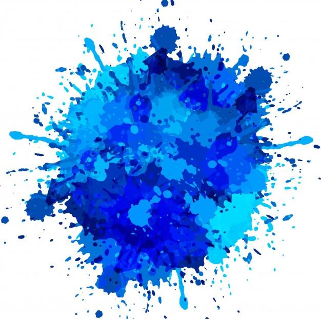 626x622 Blue Watercolor Splash Vector Free Download