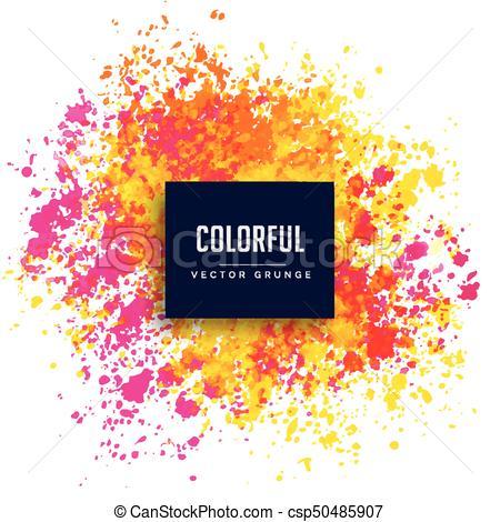 450x470 Bright Pink Yellow Watercolor Splash Vector Background.
