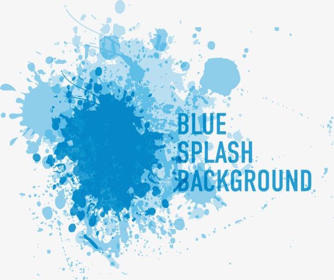650x544 Vector Blue Ink Splash Pattern, Blue Vector, Splash Vector