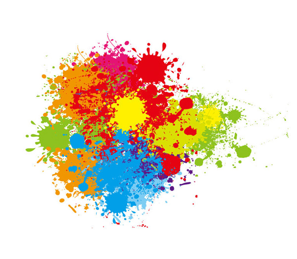 600x523 Colorful Paint Splatter Vector Art 9136