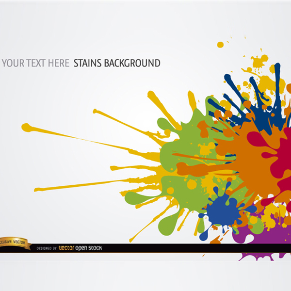 600x600 Free Vector Colorful Paint Splatter Background