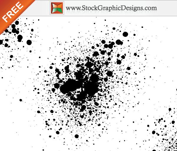 600x515 Paint Splatter Free Vector Illustration Vector Distress