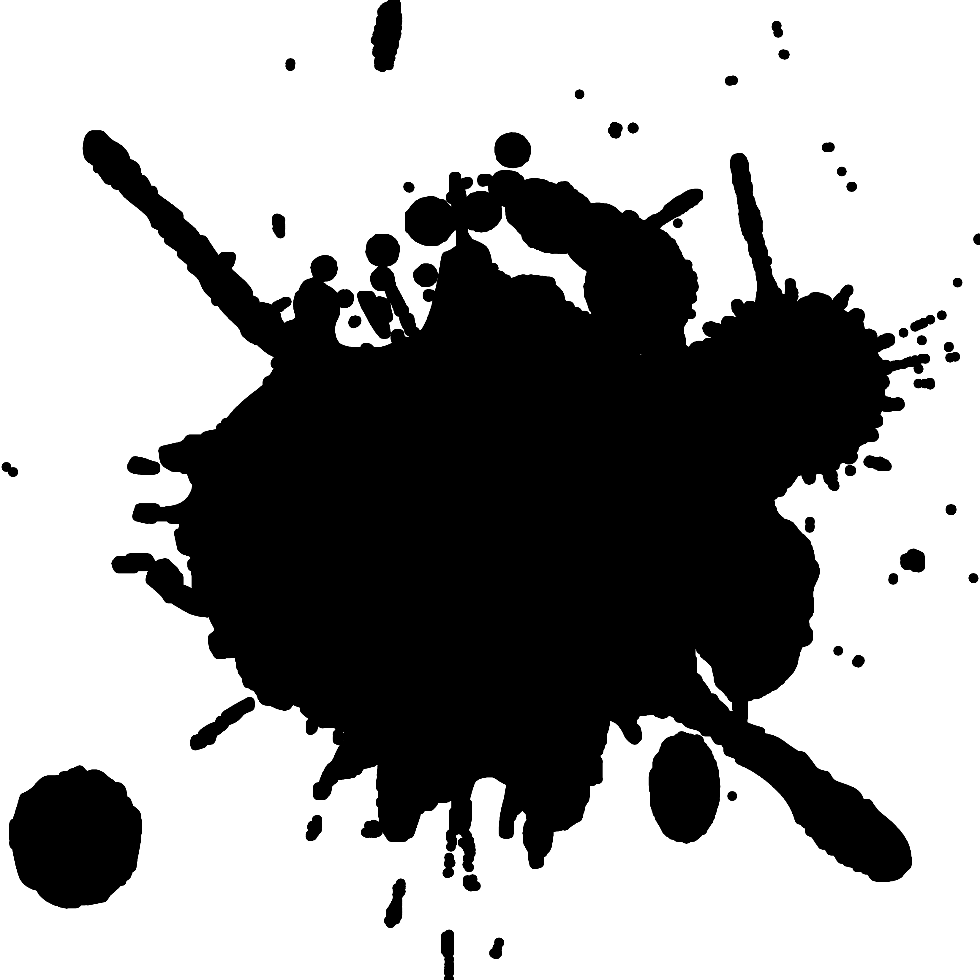 3300x3300 Real Paint Splatter Clipart