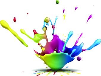340x258 Vector 3d Paint Splash Free Vector Download (9,278 Free Vector