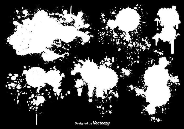 700x490 White Paint Splatter Vectors