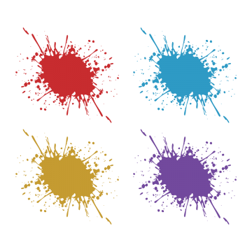 360x360 Collection Of Free Vector Splatter Print. Download On Ubisafe