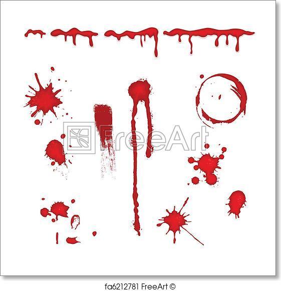 561x581 Free Art Print Of Blood Splatter