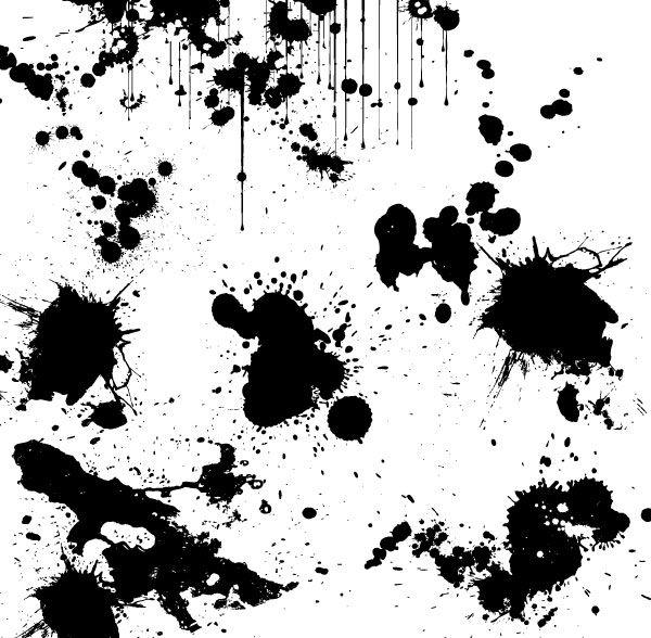600x588 Paint Splatter Vector Free (8 Photos)