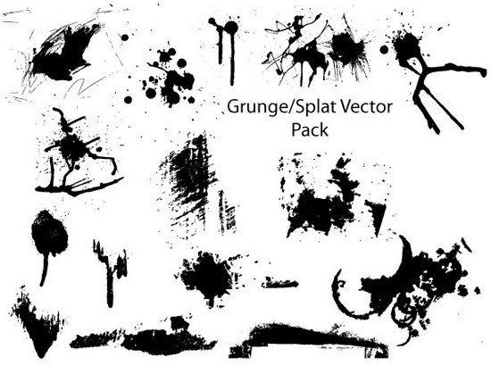 550x410 Free Adobe Illustrator Splatter Brushes And Vector Sets