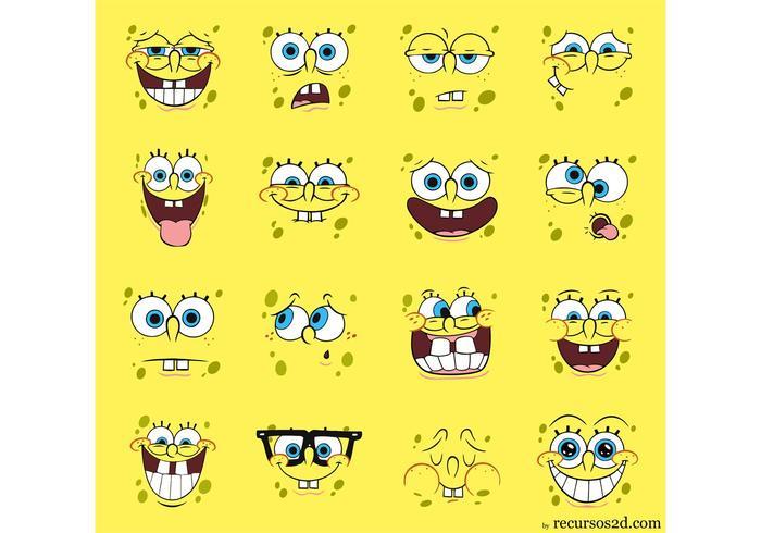 700x490 Spongebob Squarepants Vector Pack Faces