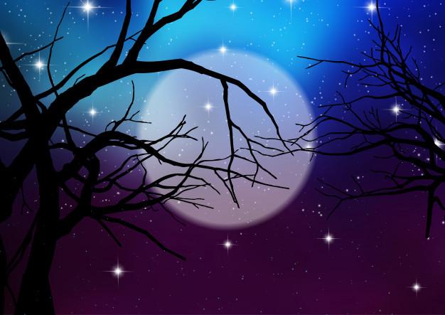 626x443 Halloween Background With Spooky Trees Vector Premium Download