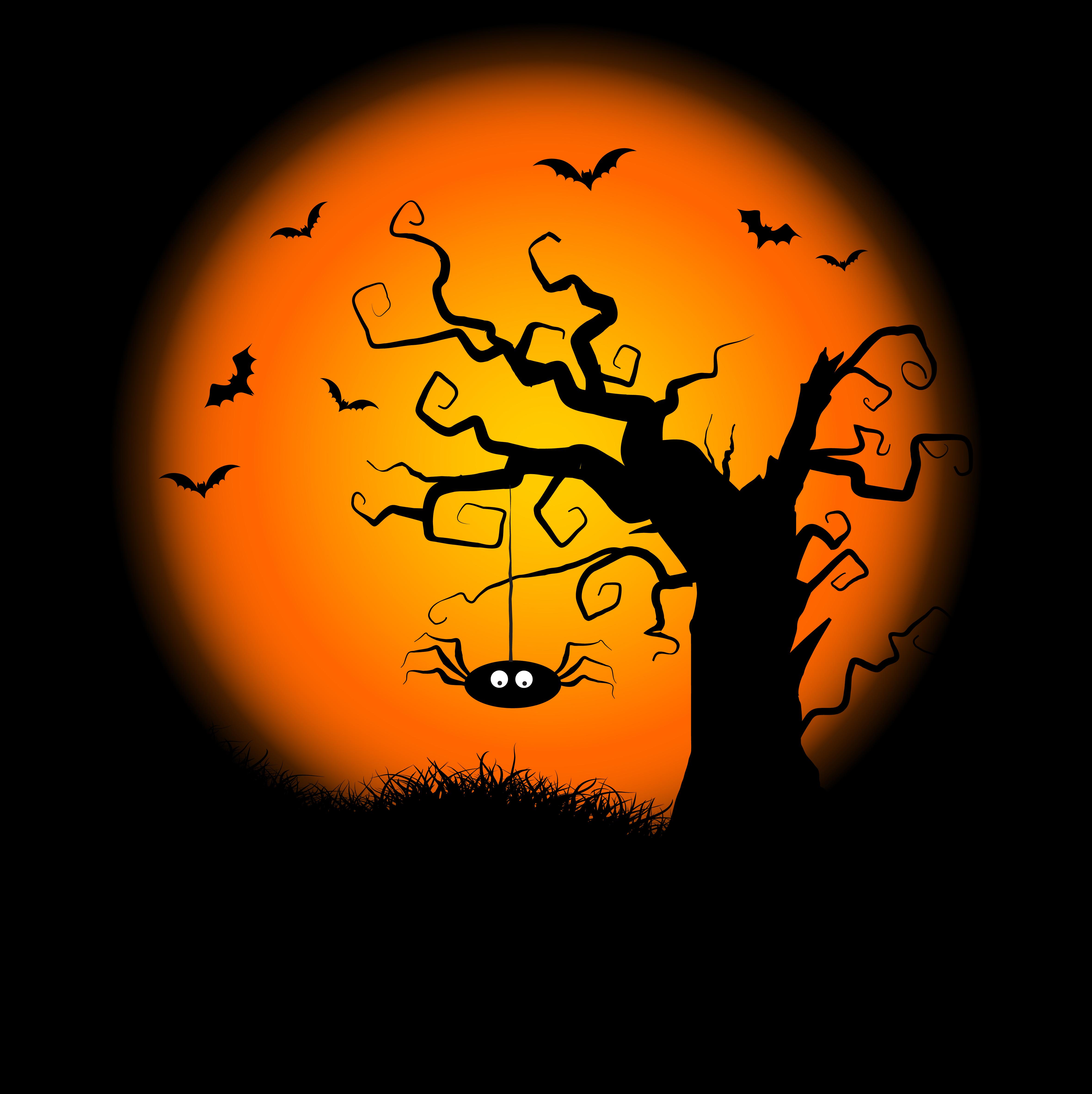 4724x4732 Scary Tree Free Vector Art