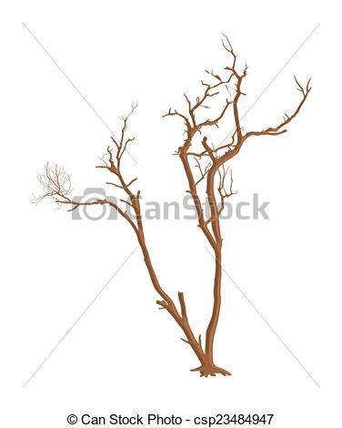 376x470 Shape Of Scary Dead Tree. Abstract Spooky Horrible Dead Tree