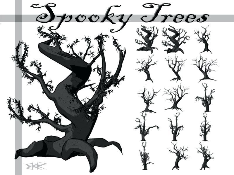 800x600 Spooky Tree Clip Art Vector Spooky Tree Free Vector Download Free