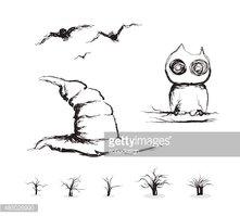 221x199 Spooky Tree Halloween Vector Stock Vectors