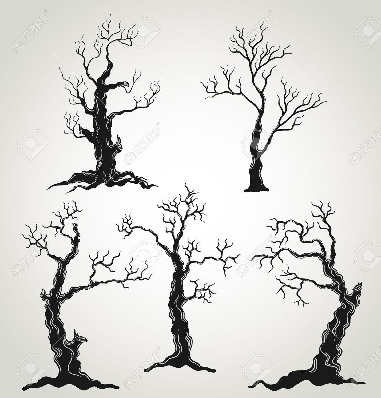 1245x1300 Spooky Tree Stock Vector Illustration And Royalty Free Spooky Tree