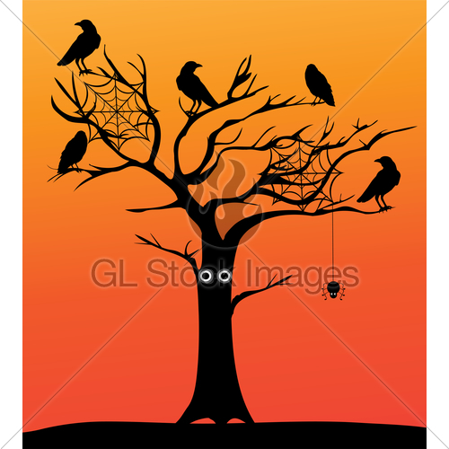 500x500 Spooky Tree Gl Stock Images