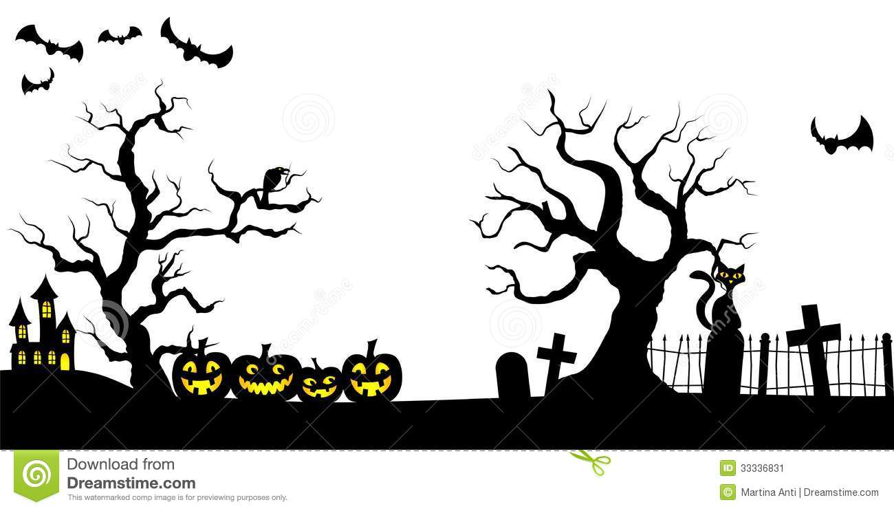 1300x743 Spooky Clipart Spooky Cemetery ~ Frames ~ Illustrations ~ Hd