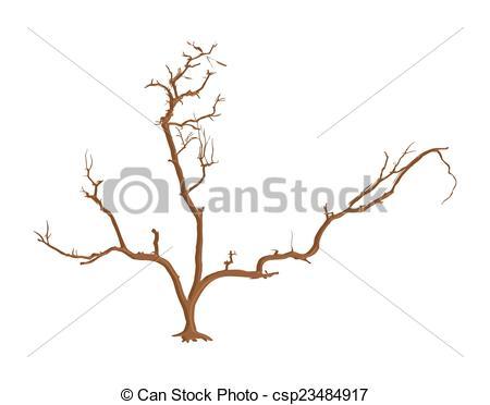 450x372 Abstract Dead Tree Vector Art. Abstract Spooky Retro Dead Tree
