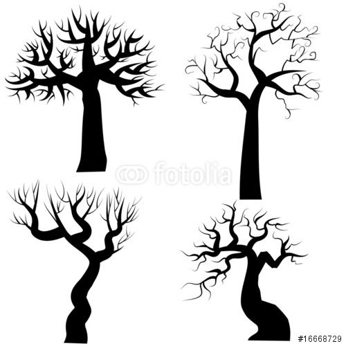 500x500 Download The Royalty Free Vector Silhouettes Of Spooky Halloween