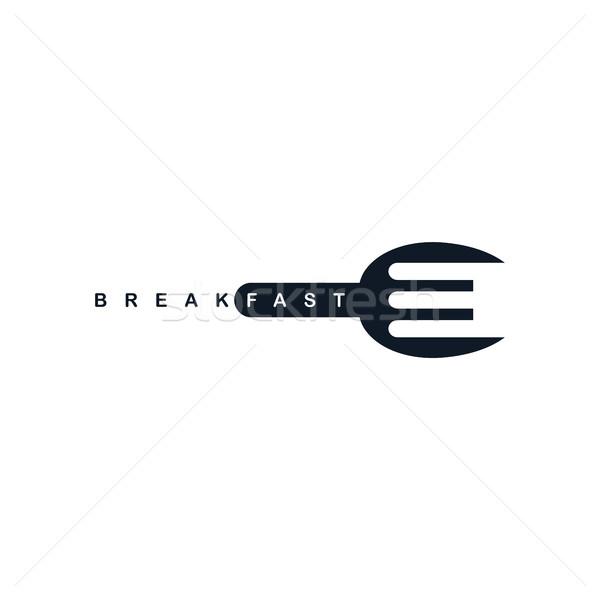 600x600 Food Service Spoon Fork Logo Vector Illustration Vector1st