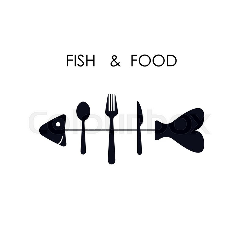 800x800 Fish,spoon,fork And Knife Icon.fish Amp Food Logo Design Vector Icon